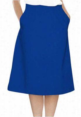 Landau A-line scrub skirt. - Royal - 3X