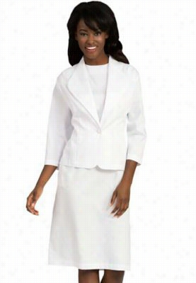 Peaches Dress and Jacket Set. - White - 12