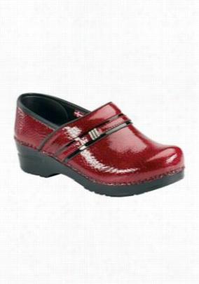 Sanita Original Emory women's nursing shoes. - Red - 38