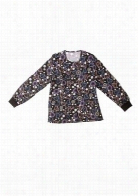Scrub Wear Jewel Garden print scrub jacket. - Jewel Garden - 2X