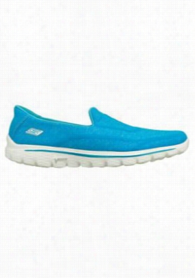 Skechers Go Walk 2 Super Sock women's athletic shoes. - Turquoise - 6