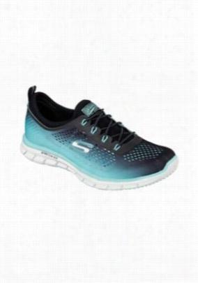 Skechers Sport Active Glider Fearless athletic shoe. - Black/Aqua - 6