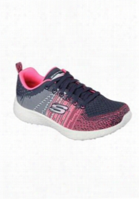 Skechers Sport Burst Ellipse athletic shoe. - Charcoal/Pink - 6.5