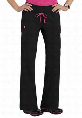 Smitten Legendary drawstring fashion scrub pants. - Black - PL