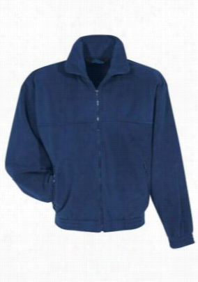 Tundra Panda fleece scrub jacket. - Navy - 2X