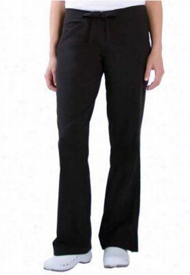 Urbane Sport drawstring waist angle pocket scrub pants. - Black - P2X