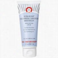 First Aid Beauty Ultra Repair Pure Mineral Sunscreen Moisturizer SPF 40 2 oz