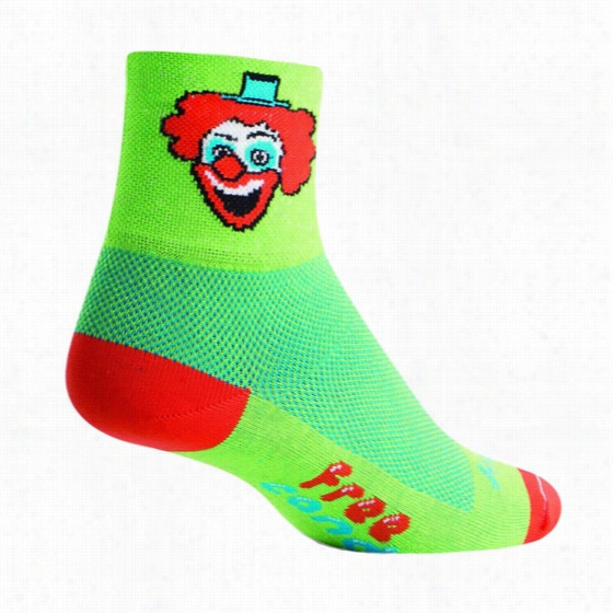 Sock Guy Creepy Clown Ankle Sock