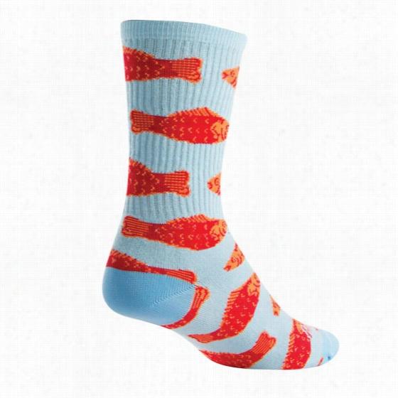 Sock Guy Go Fish Crew Sock