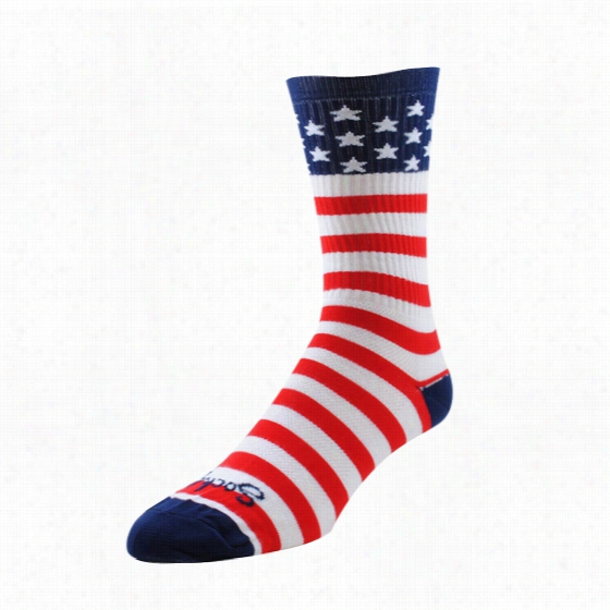Sock Guy USA Flag Crew Sock