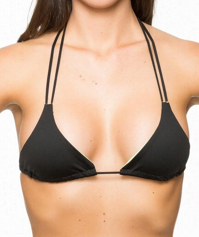 Raglan Reversible String Tie Bikini Top