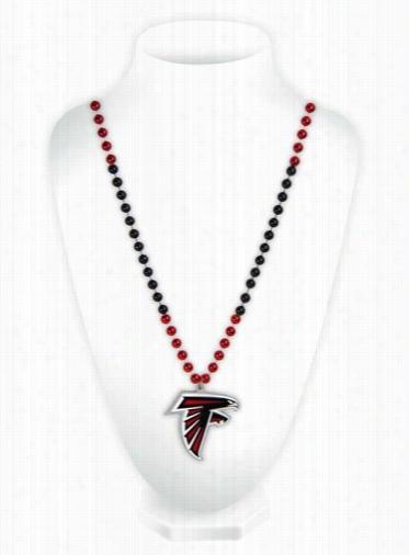 Atlanta Falcons Mardi Gras Beads with Medallion