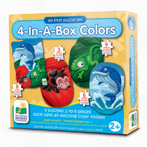 My First Puzzle Set - Colors 4-In-A-Box Puzzles