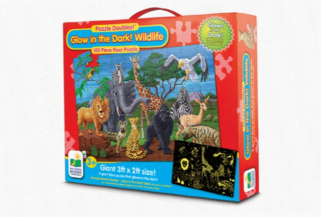 Puzzle Doubles- Glow in the Dark Wild Life
