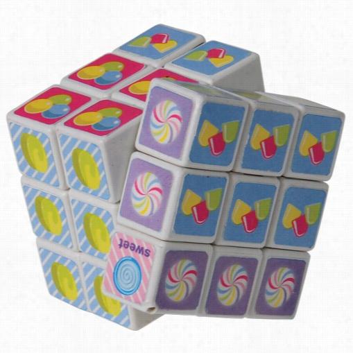 Mini Candy Puzzle Cubes/4-pc