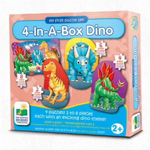 My First Puzzle Set - Dino 4-In-A-Box Puzzles