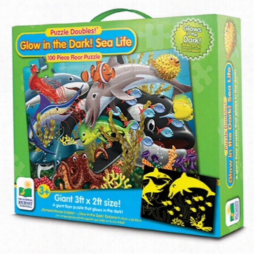 Puzzle Doubles- Glow in the Dark Sea Life