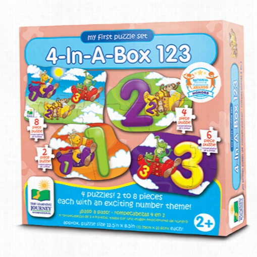 My First Puzzle Set - 123 4-In-A-Box Puzzles