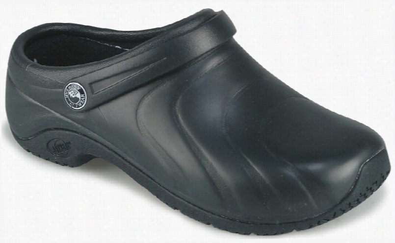 Anywear Zone Clog Black Silver Pattern Sz 10