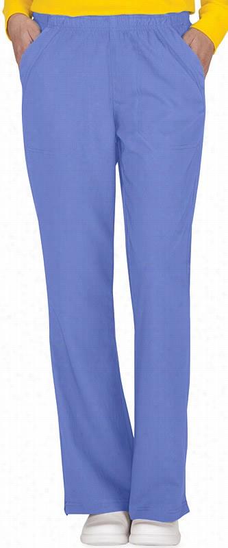 Four Stretch Flip Waist Flare Pant Ceil Blue Large
