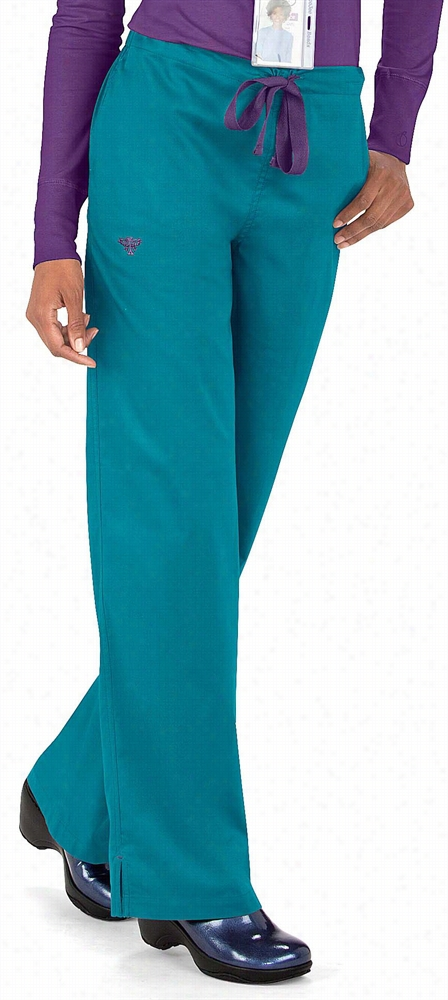 Med Couture Straight Leg Pant Belize/coral Reef X-