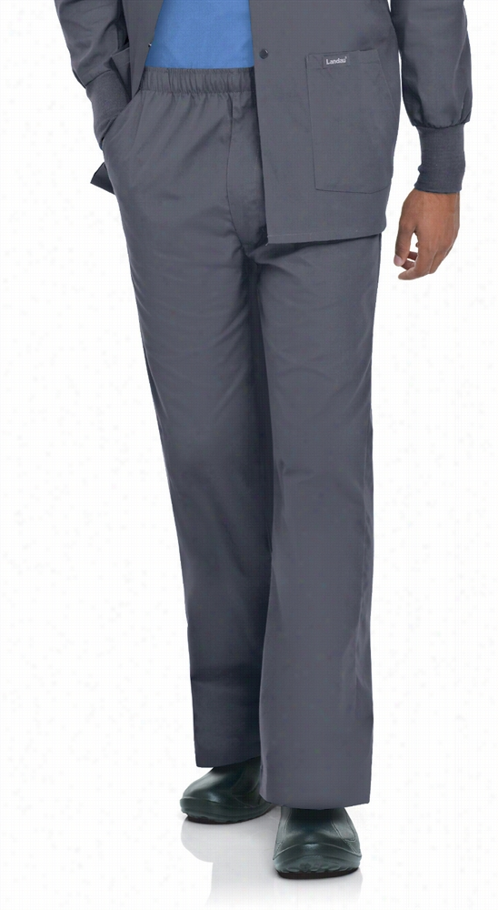 Mens Elastic Pant W/ Zipper Navy X-Large