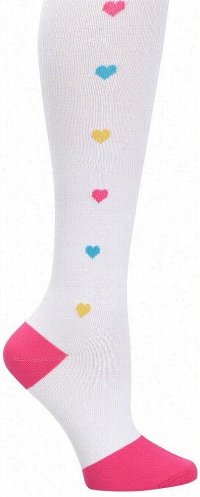 Multi Hearts Compression Trouser Socks Multi One S