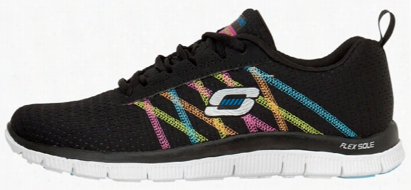 Skechers Something Fun Black/multi Sz 6h