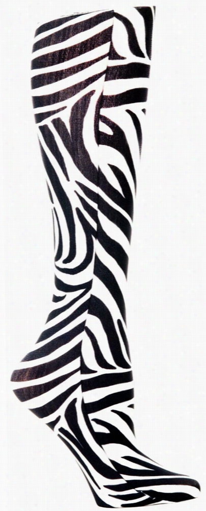Ultra Sheer Compression Sock Flow Zebra One Size
