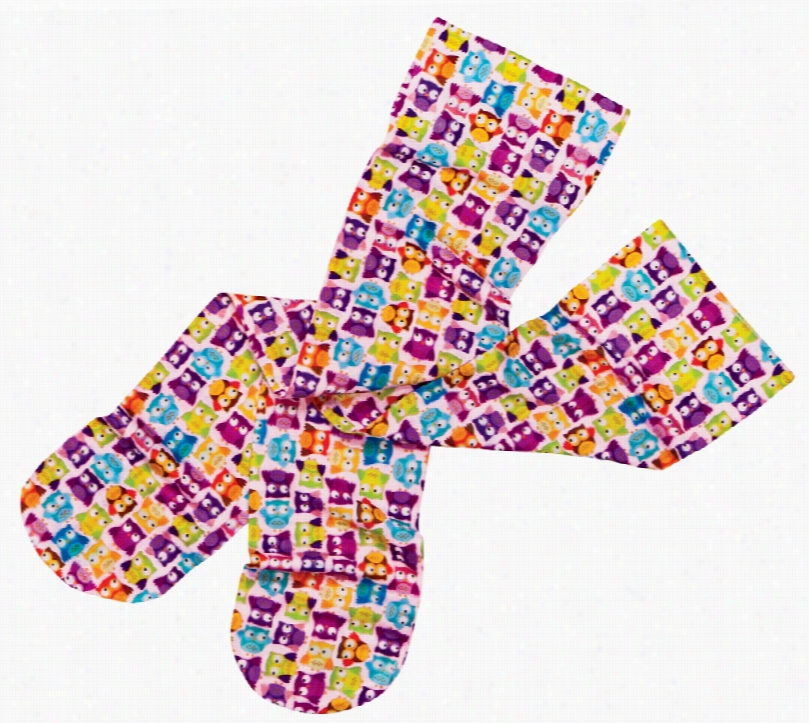 Ultra Sheer Compression Sock Tiny Owls One Size